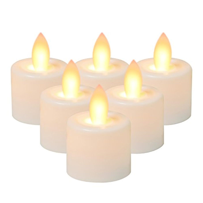 スリーブゴルフ富屋台リアルなプラスチックLEDフレイムレスキャンドルイエロースイングElectric Bougie Decoratif、のセットPillar Candle LightバッテリOpearted Fakeキャンドル Φ1.57×H1.97(6pcs)