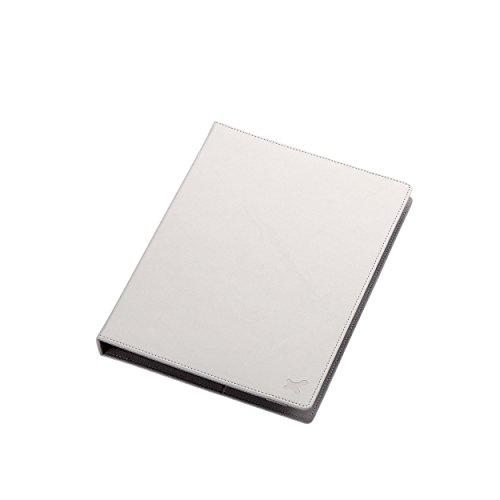 8.5〜10.5インチ汎用タブレットケース(レザータイプ)/白 TB-10LCHWH 1個