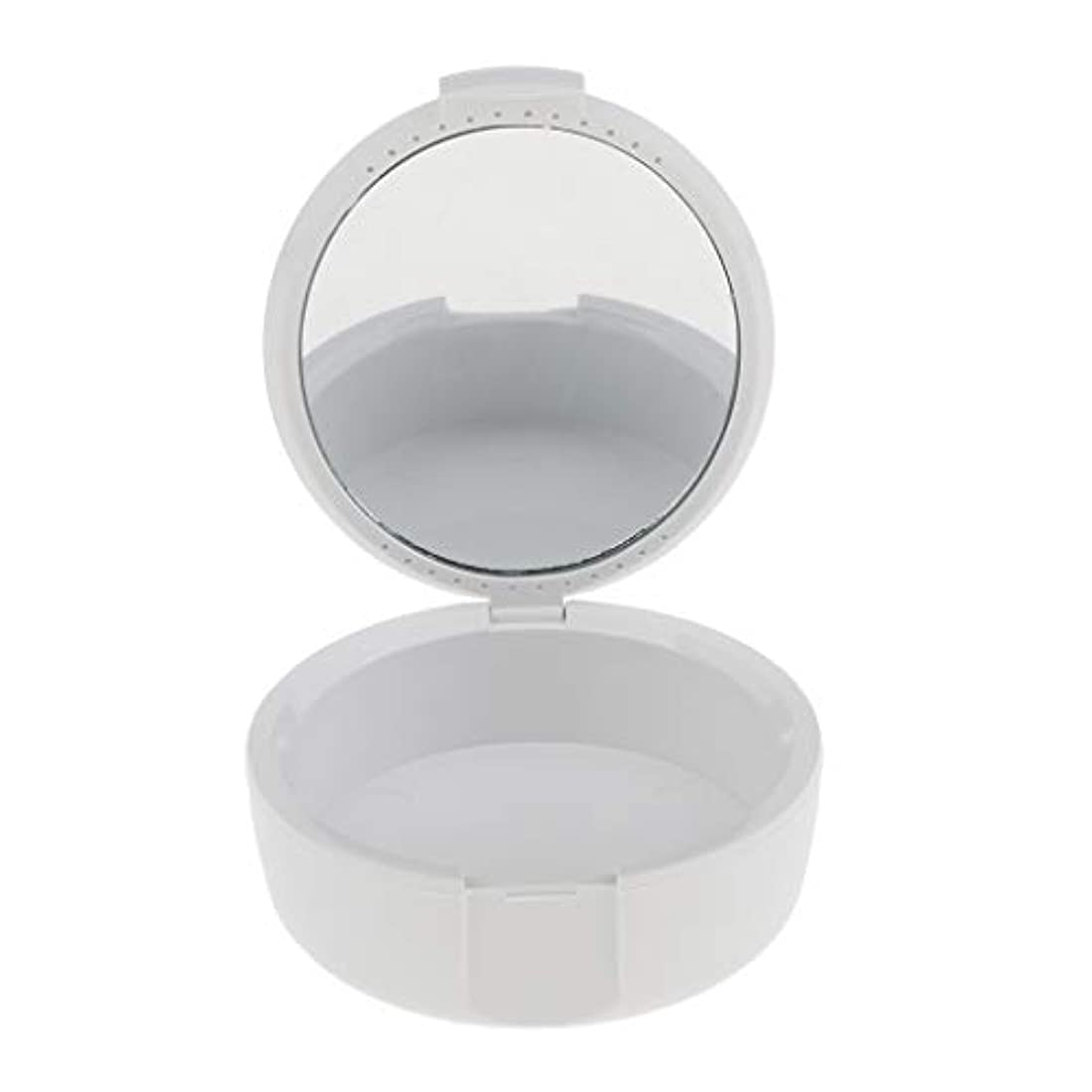 配列小石タクトD DOLITY 義歯ケース マウスガードケース ミラー付き 便利 2色選べ - 白