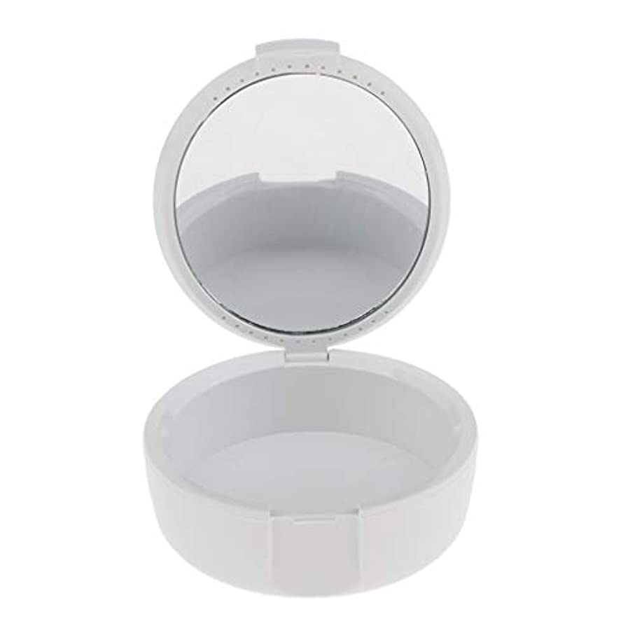 ねじれ管理する音声D DOLITY 義歯ケース マウスガードケース ミラー付き 便利 2色選べ - 白
