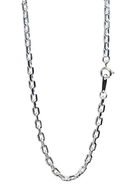 新宿銀の蔵 あずきチェーン 4面カット 長さ40~60cm (50cm) 幅3.2mm シルバー 925 引き輪金具 ネックレス チェーン ネックレスチェーン sv
