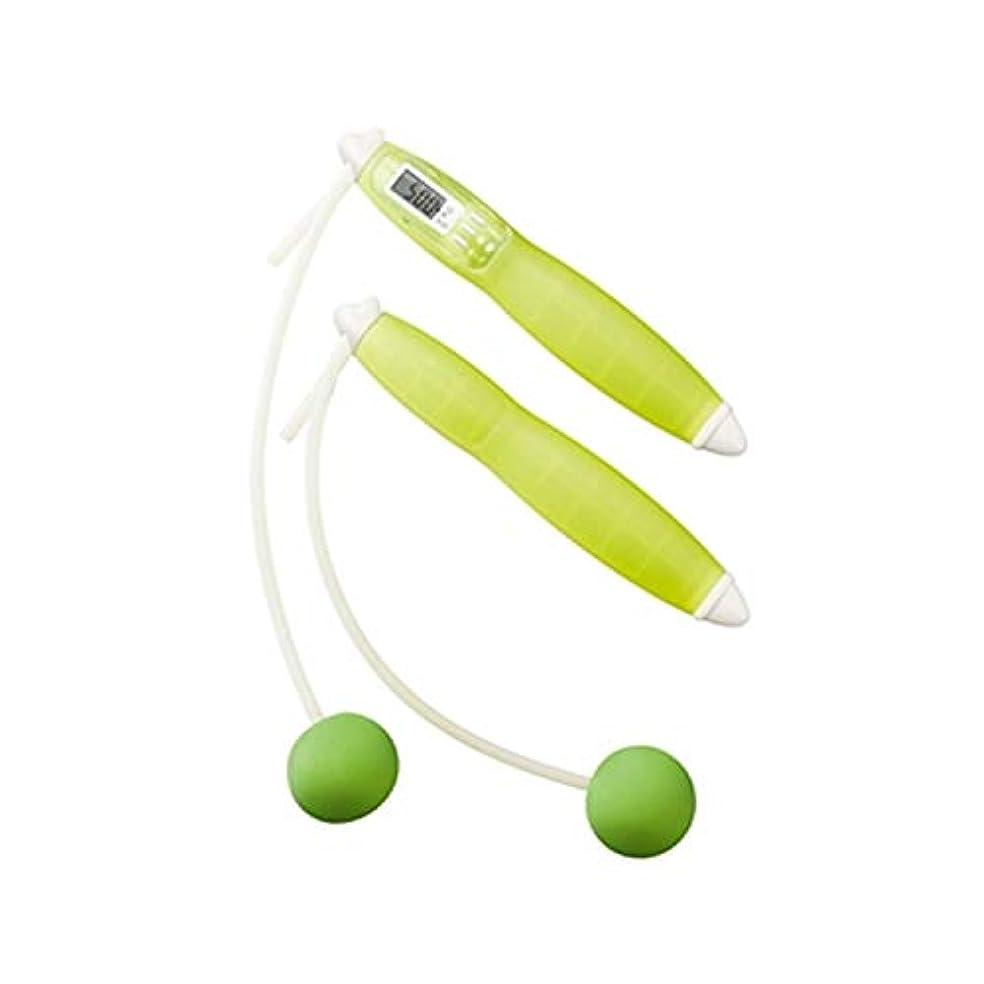 発火する堀高潔なタニタ(TANITA)タニタサイズ カロリージャンプ TS-960 (グリーン)消費カロリー付きなわとび