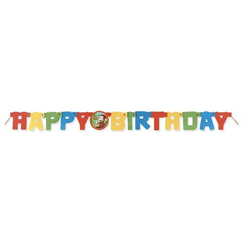 ゆうパケット配送 キュリアスジョージ(おさるのジョージ) バースデーバナー 11762【Curious George 誕生日 バナー バースデー 垂れ幕】