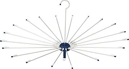 ツウィンモール 洗濯物干しアルミパラソルハンガー ネイビー 高さ44cm BEILU BE-08N