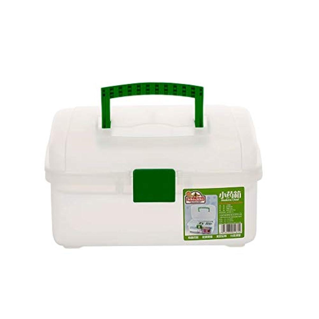 ほめるアクチュエータ顎LWBUKK 薬箱、家庭用大型外来プラスチック収納箱、家族用救急箱 医療箱
