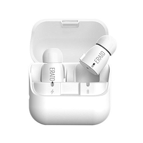 ERATO(エラート) VERSE バース 完全ワイヤレスイヤホン Bluetooth ブルートゥース 高音質 イヤホン Bluetooth4.2 SBC AAC マイク内蔵 ハンズフリー通話 防水 IPX5 超小型 超軽量 SpinFit 長時間再生 AEVE00BK00 AEVE00WH00 【国内正規品】 メーカー1年保証 (White)