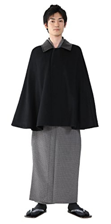 (キョウエツ) KYOETSU 和装コート メンズ ケープ ポンチョ ウール生地100%