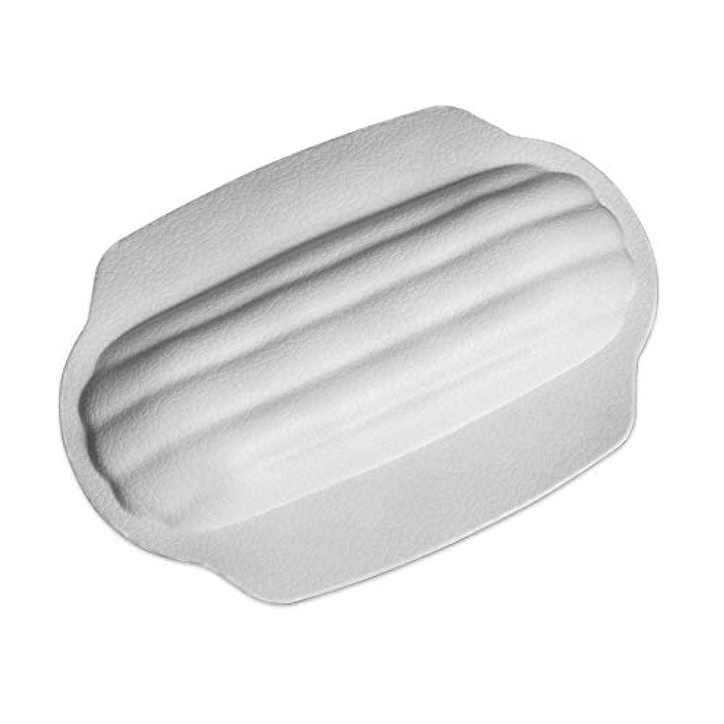 縞模様の放棄縮約サクションカップ付き防水滑り止めスパ枕厚めユニバーサルバスタブ枕バスタブと抗菌性