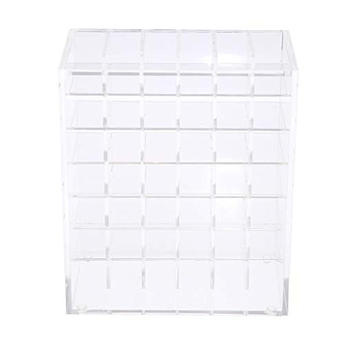 要求するワーム日食口紅ホルダー リップホルダー 化粧品ディスプレイ スタンド アクリルケース 42個収納スタンド