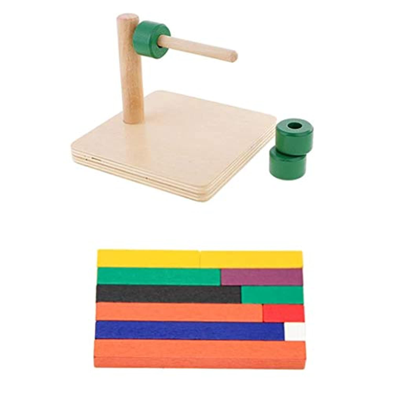 B Baosity 木製スティック 円柱パッペルダイアル 教育玩具 感覚教育 訓練 子供 学習能力アプ