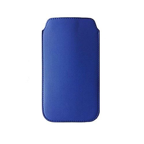 iPhone6S / iPhone6 ポーチ 4.7インチ用 スリップインケース シンプル PUレザー 軽量 出し入れ容易 全面保護 アイフォン6S スマホポーチ スリーブケース ブルー (iPhone6S / iPhone6, ブルー) [並行輸入品]