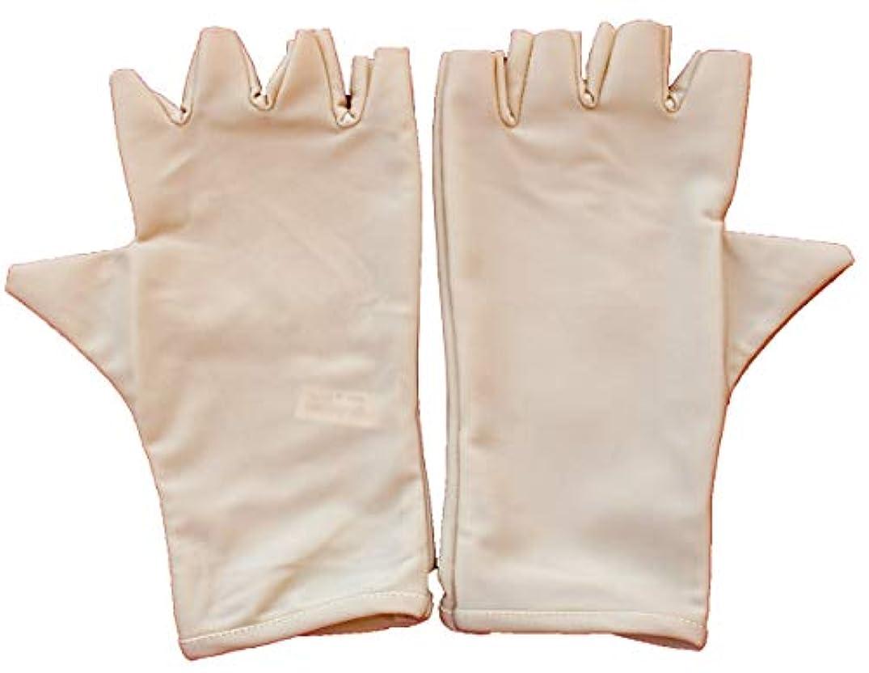ストローシネウィペット(XLarge) - Men & Women's Outdoor Activity Fishing Fingerless Sun Protection Gloves, Beige