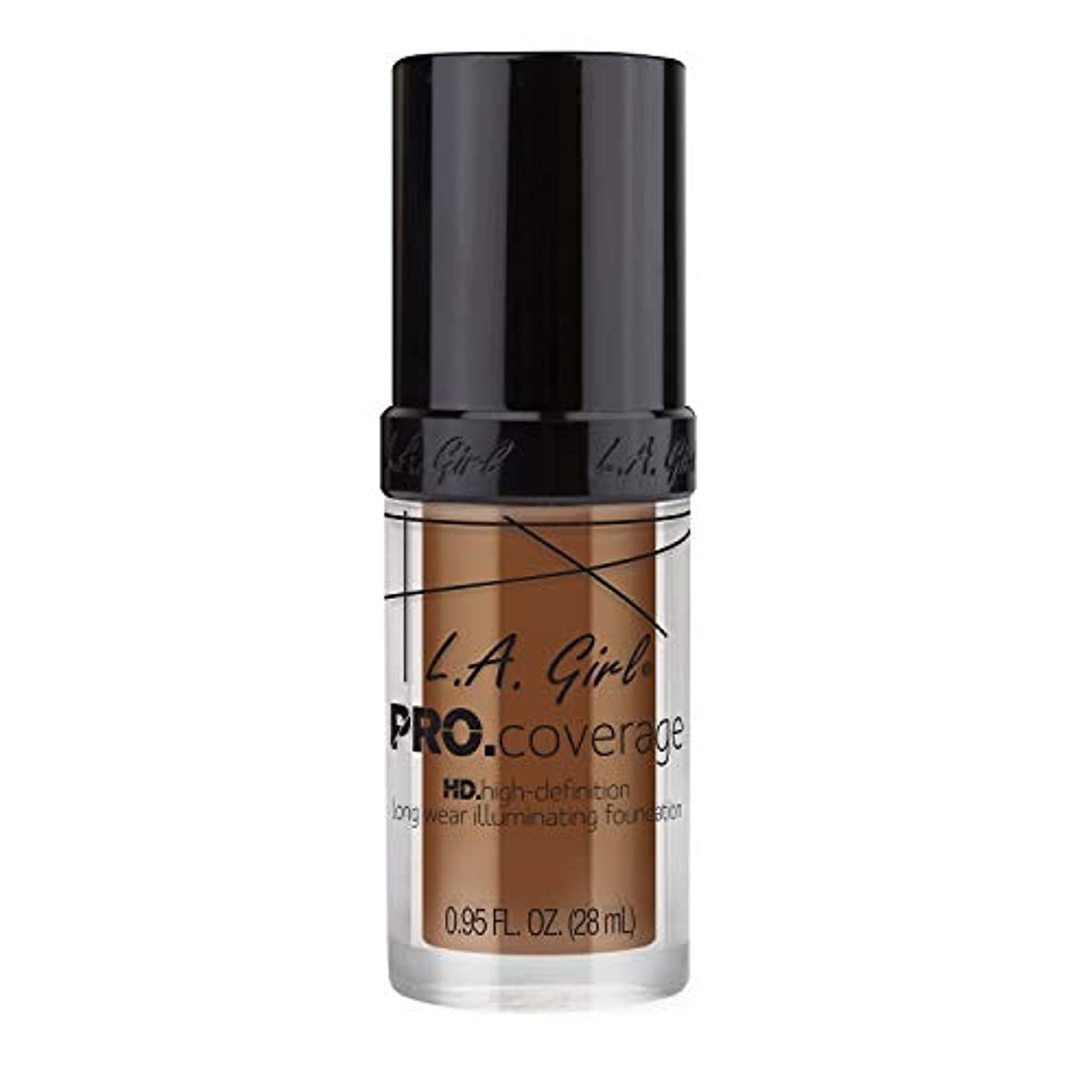 統治可能白いフェッチL.A. Girl Pro Coverage Illuminating Foundation - Coffee (並行輸入品)