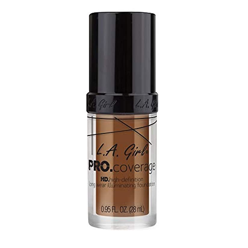 テキスト化学者千L.A. Girl Pro Coverage Illuminating Foundation - Coffee (並行輸入品)