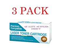 QSD Compatible Toner Replacement for HP CE272A, Works with: Color Laserjet Enterprise CP5525, CP5525DN, CP5525N, CP5525XH (Yellow)(Free 1 to 2 Day DELIVERY)(3-Pack)