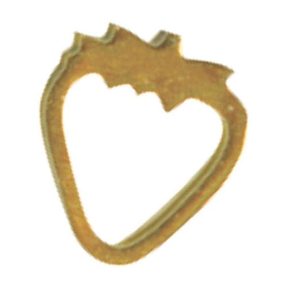 徹底的に履歴書王族リトルプリティー ネイルアートパーツ イチゴ SS ゴールド 10個
