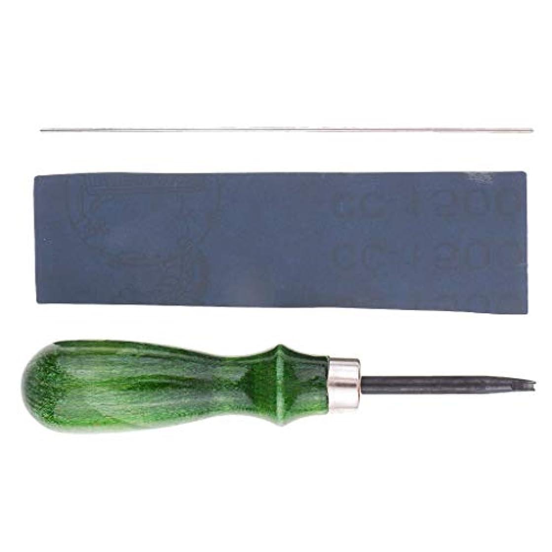 知事根絶する筋肉の全5サイズ エッジスカイビングスリッカー 革磨き 革細工道具 - 1.4mm
