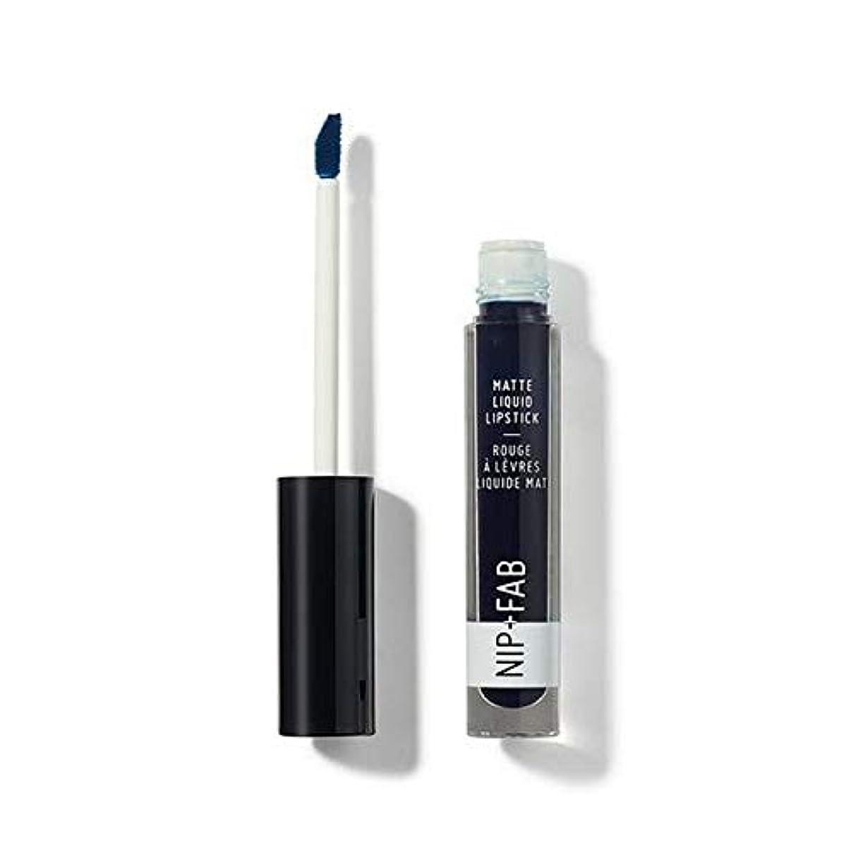 放射するめんどりクリップ[Nip & Fab ] + Fabマット液状口紅ブルーベリーシャーベット60ニップ - Nip+Fab Matte Liquid Lipstick Blueberry Sorbet 60 [並行輸入品]