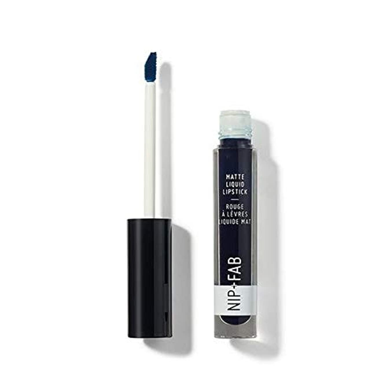動機付ける戻るエチケット[Nip & Fab ] + Fabマット液状口紅ブルーベリーシャーベット60ニップ - Nip+Fab Matte Liquid Lipstick Blueberry Sorbet 60 [並行輸入品]