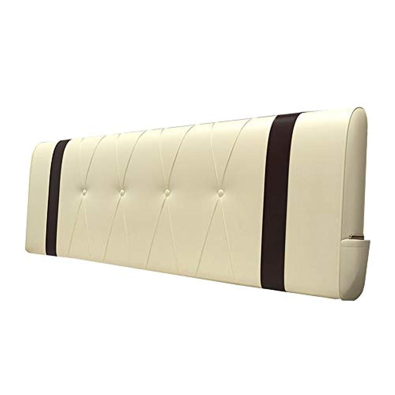 発音土レーニン主義KKCF ヘッドボードクッションシンプルソリッドカラー耐摩耗性いっぱい背もたれホームPU 、4色 6サイズ (Color : C, Size : 180cm)