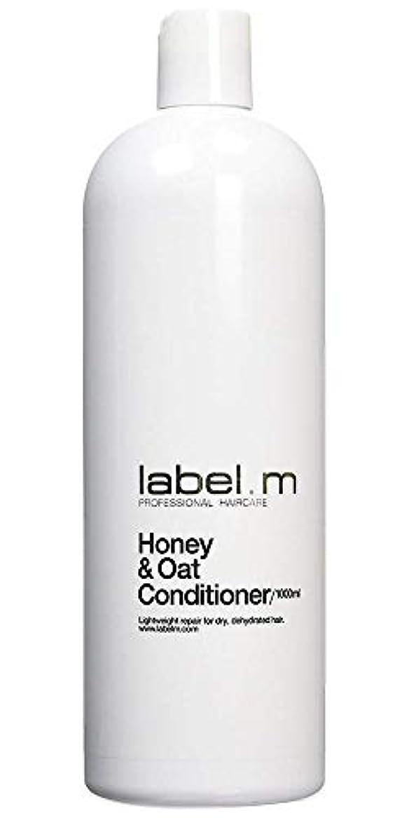 忍耐怠惰より平らなLabel MHoney & Oat Conditioner (For Dry, Dehydrated Hair) 1000ml/33.8oz【海外直送品】