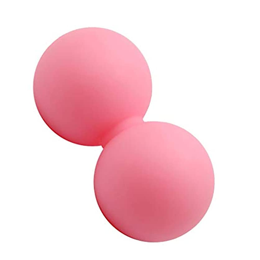 ロマンチック邪魔する引き金マッサージボール ヨガ 手のひら/足/足首/腕/首/背中用 ピンク