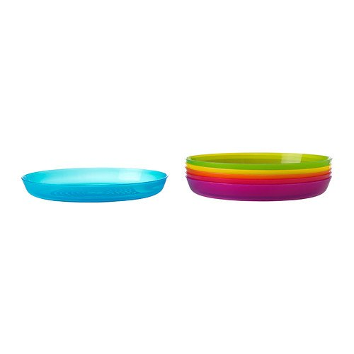 RoomClip商品情報 - NEW KALAS キッズ食器 カラフルプレート6個 プラスチック製 IKEA 701.929.58