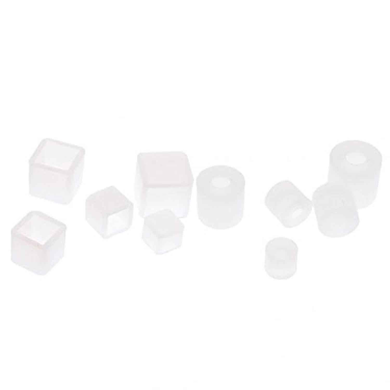 SONONIA シリコンペンダント DIY金型 ジュエリーツール DIY飾り 丸形と正方形 手芸部品 10個