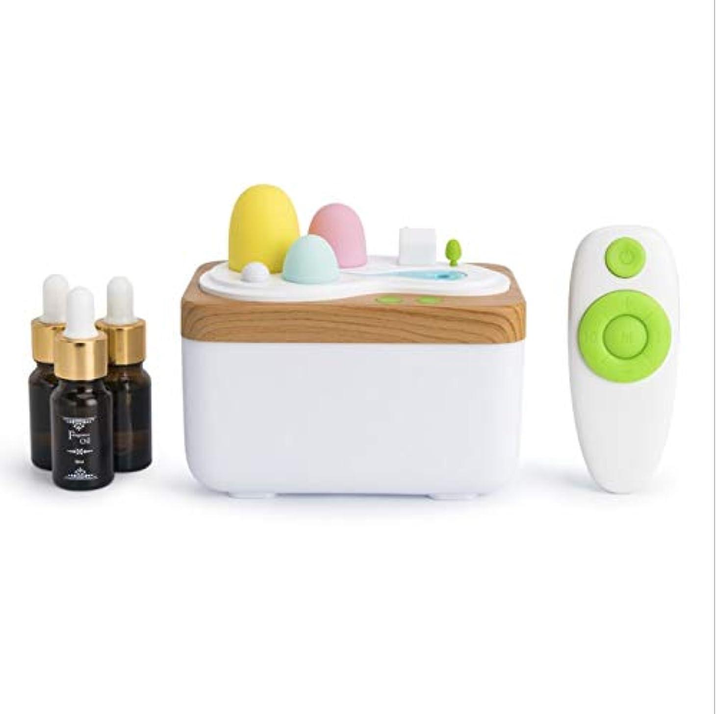 広々としたストライク寄生虫ホームベッドルームオフィスに適しアロマディフューザー、リモート超音波USB香ランプ加湿器、420ML大型水タンク、自動閉会、田園風景、 (Color : Aromatherapy)