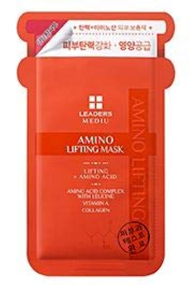 小包付き添い人十分です[LEADERS] MEDIU Amino Lifting Mask 25ml*10ea / リーダースアミノリフティングマスク 25ml*10枚 [並行輸入品]