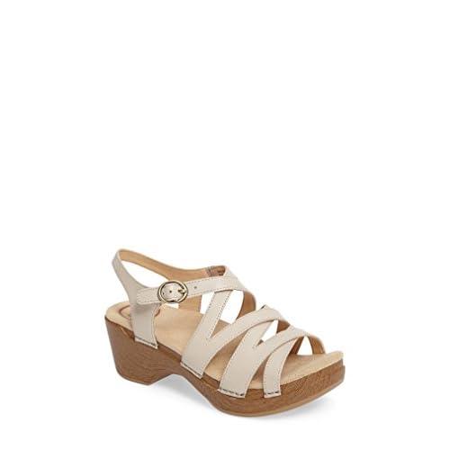 ダンスコ シューズ サンダル Dansko 'Stevie' Platform Sandal (Women) Ivory Leat [並行輸入品]