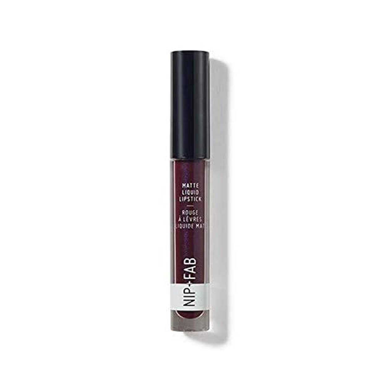 怒る強要純度[Nip & Fab ] + Fabマット液体口紅ブラックグレープ55ニップ - Nip+Fab Matte Liquid Lipstick Black Grape 55 [並行輸入品]