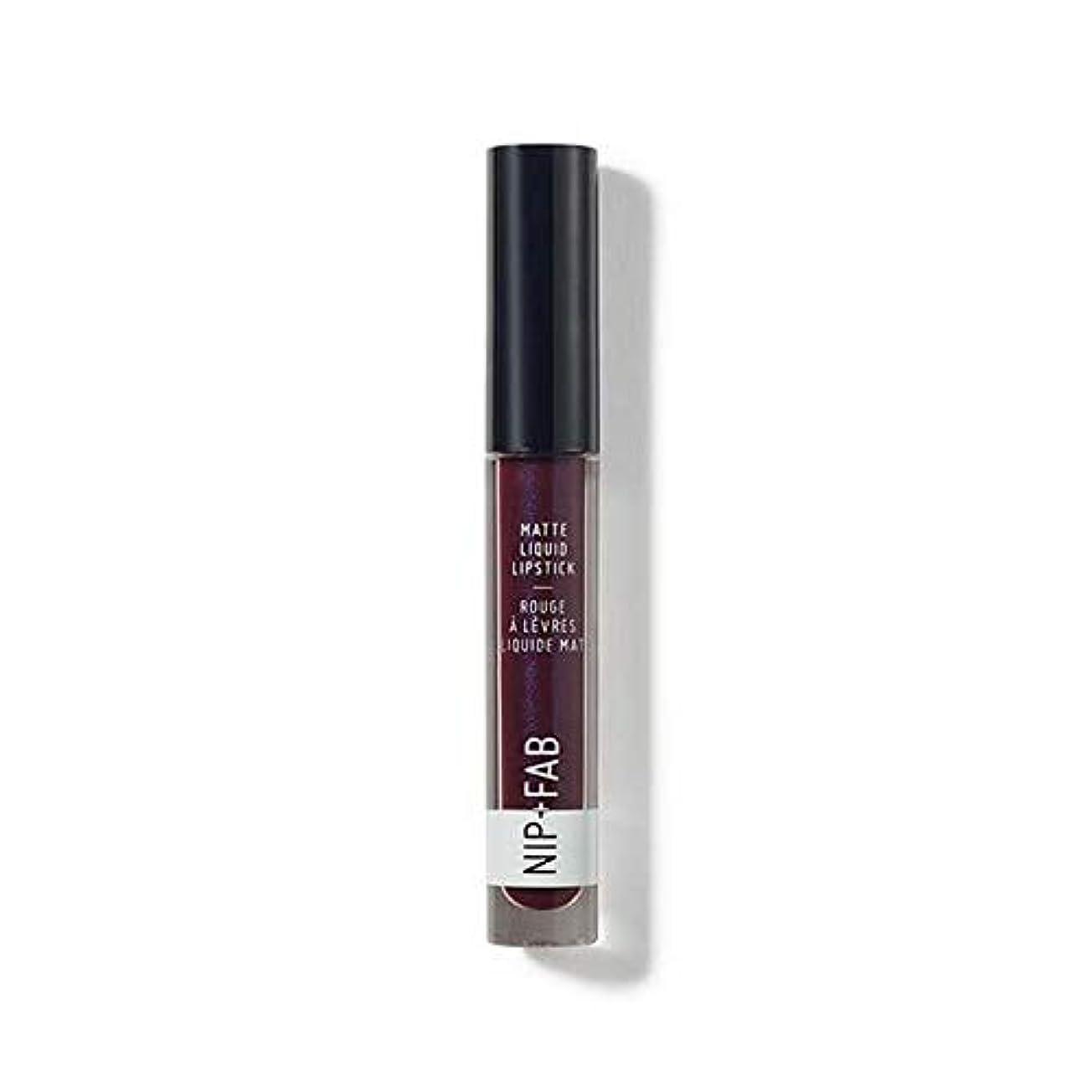 当社セラフ狂う[Nip & Fab ] + Fabマット液体口紅ブラックグレープ55ニップ - Nip+Fab Matte Liquid Lipstick Black Grape 55 [並行輸入品]