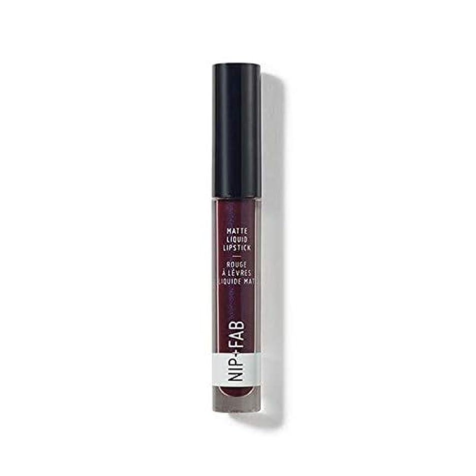 文字通り協力するアーサー[Nip & Fab ] + Fabマット液体口紅ブラックグレープ55ニップ - Nip+Fab Matte Liquid Lipstick Black Grape 55 [並行輸入品]
