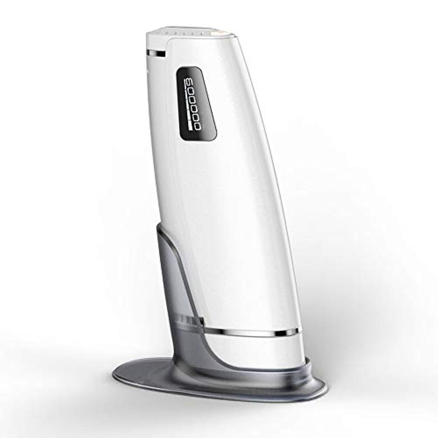 IPL脱毛システムライト脱毛器、5つの強度レベルで600000回点滅美容デバイスは長期の髪の成長を低減します,白