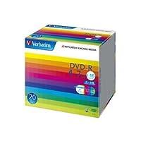 (まとめ) バーベイタム データ用DVD-R 4.7GB ワイドプリンターブル 5mmスリムケース DHR47JP20V1 1パック(20枚) 〔×3セット〕