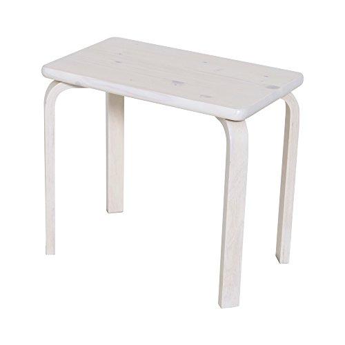 【JAJAN】天然木ベッドサイドテーブル ホワイト[シンプル][北欧パイン材]