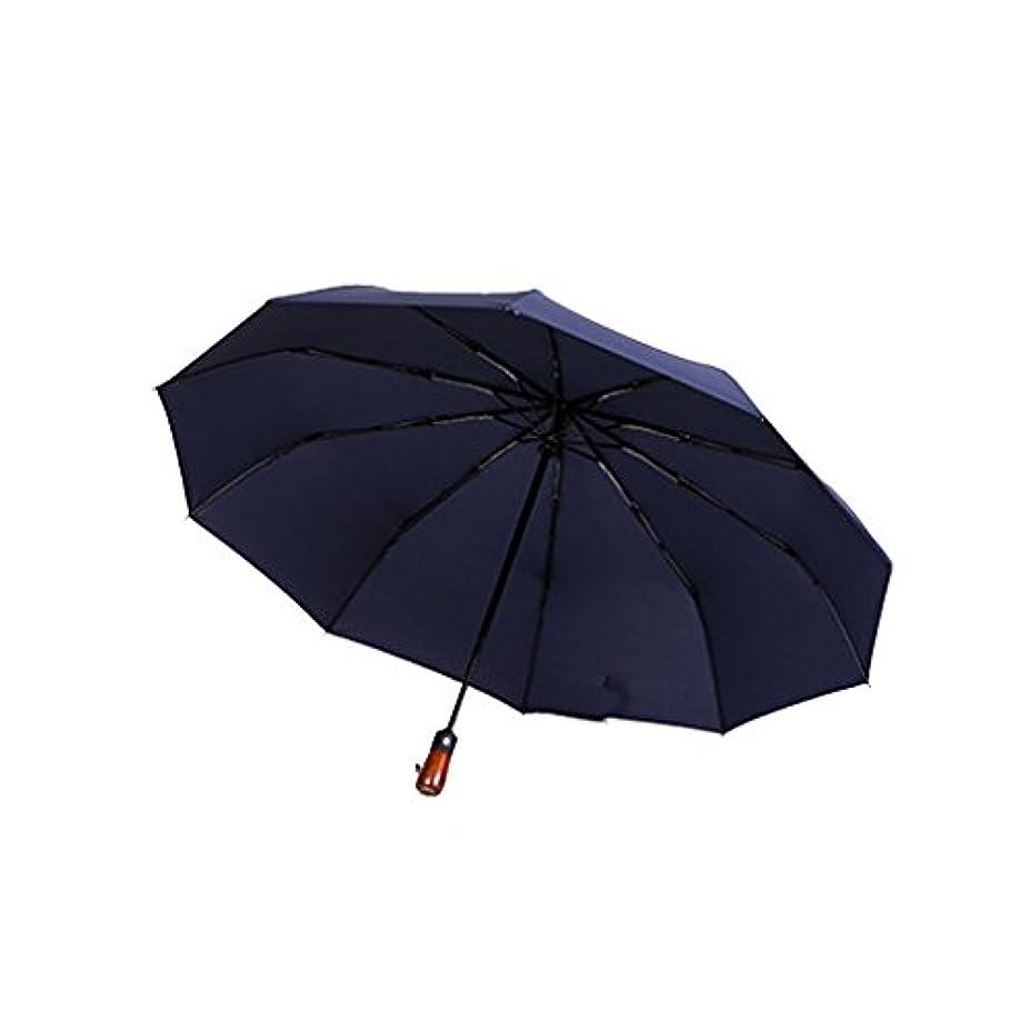 ブロッサム資源事務所旅行用傘 コンパクト旅行傘 - パラソル日傘ポータブル折りたたみ傘日陰抗紫外線高速乾燥防風旅行傘 - 自動開閉ボタン、テフロンコーティング UVカット (色 : 青)