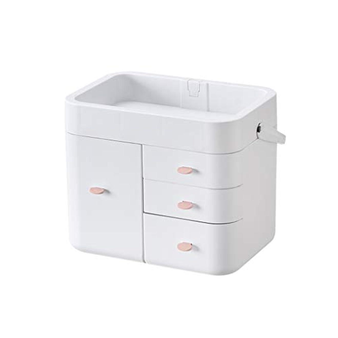 不愉快に冷笑する追跡化粧品オーガナイザー、ポータブル多機能化粧品ケース多層収納ボックス (色 : B)