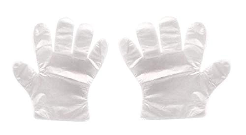 ちっちゃい降下スクリュー(クリエイトnema)使い捨て手袋 極薄ビニール手袋 ポリエチレン 透明 実用 衛生 枚数選べる (400枚セット)