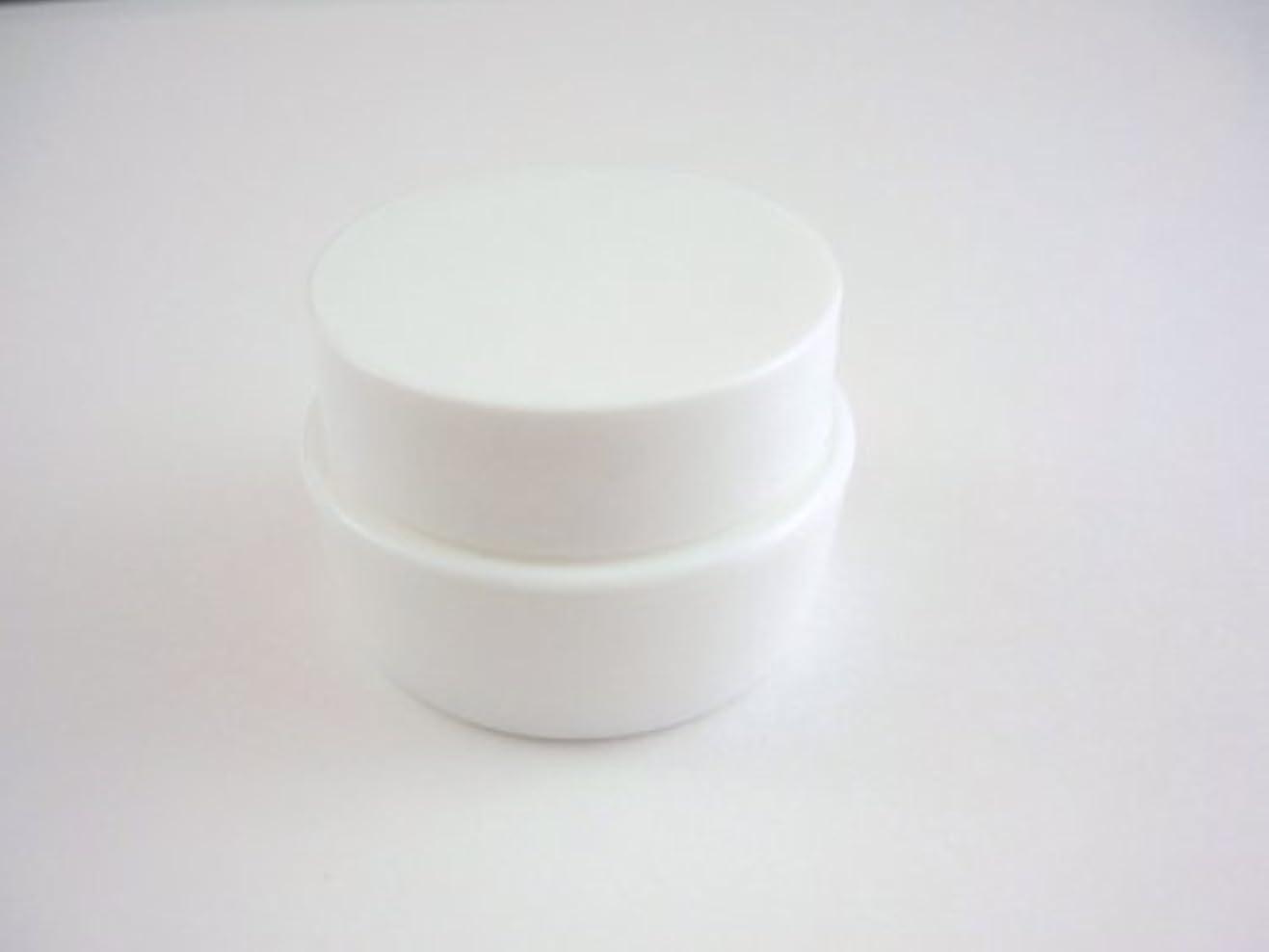 横に参加する気体のジェル空容器 3ml   ホワイト 10個セット