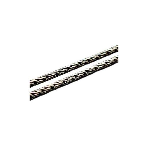 【ツーピーシーズ】 2PIECES シルバーアクセサリー ネックレス ツイストチェーン ネイティブアメリカン系にも相性の良いシルバーチェーン c0021 サイズ:45cm