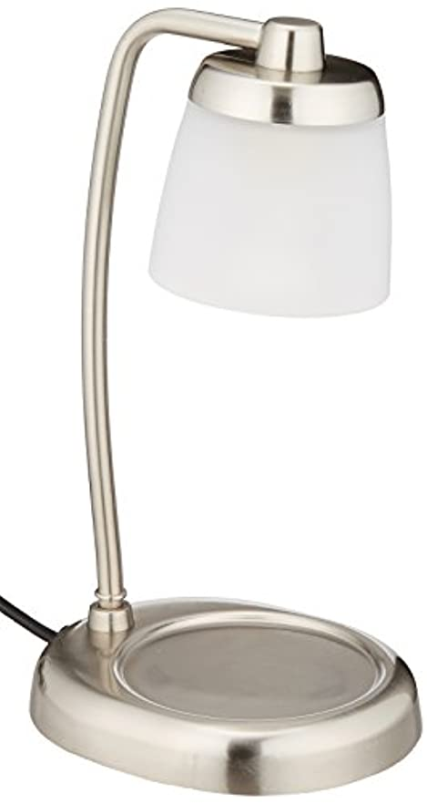 電球の熱でキャンドルを溶かして香りを楽しむ電気スタンド キャンドルウォーマーランプ (シルバー)