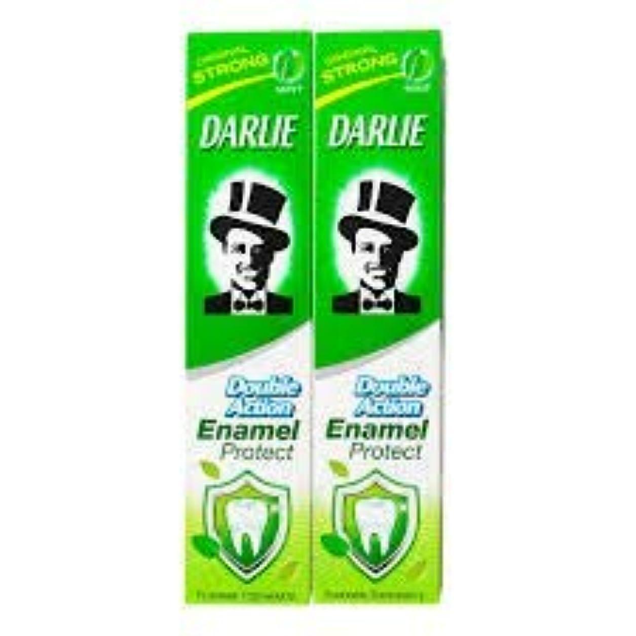 鳴らす起こるそれにもかかわらずDARLIE 歯磨き粉歯磨き粉二重の役割、保護エナメル強いミント2×220ケ - あなたの歯を強化し、防御の最前線