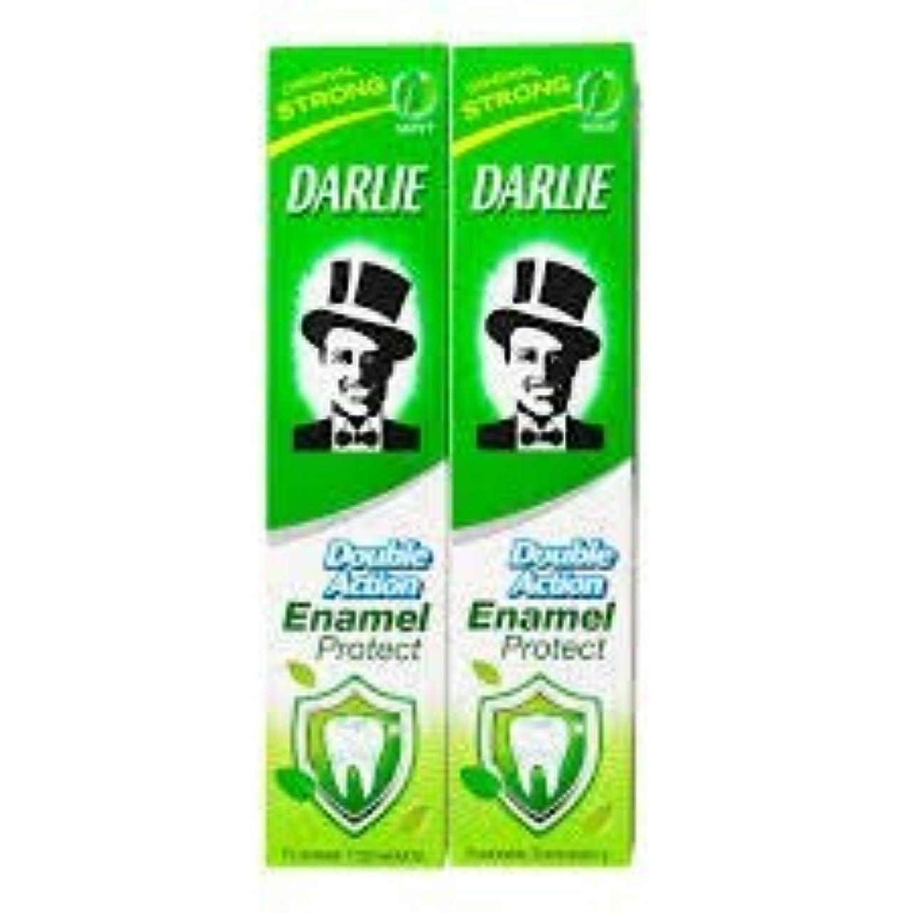なんとなく熟読曲線DARLIE 歯磨き粉歯磨き粉二重の役割、保護エナメル強いミント2×220ケ - あなたの歯を強化し、防御の最前線