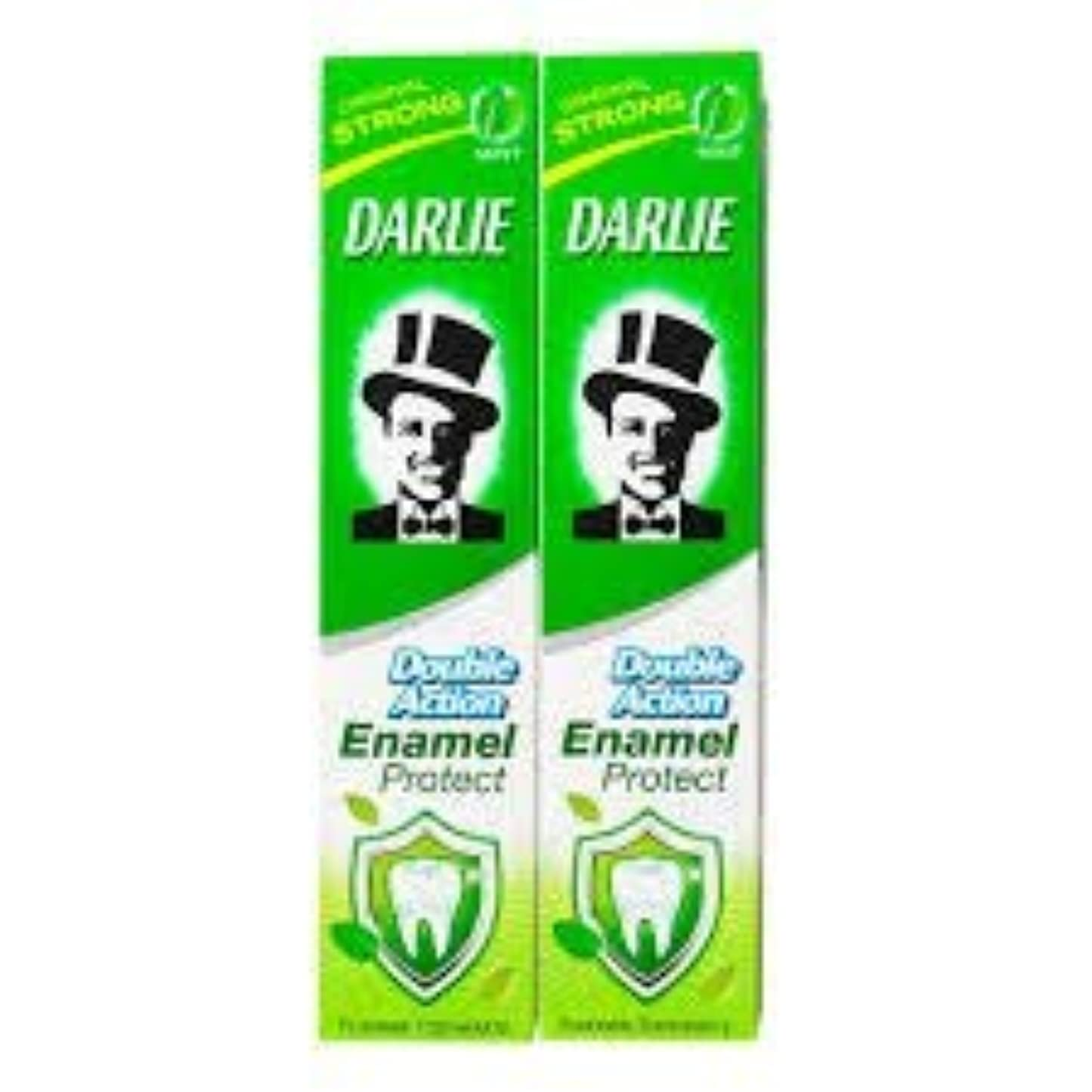 簡略化する本物ナラーバーDARLIE 歯磨き粉歯磨き粉二重の役割、保護エナメル強いミント2×220ケ - あなたの歯を強化し、防御の最前線