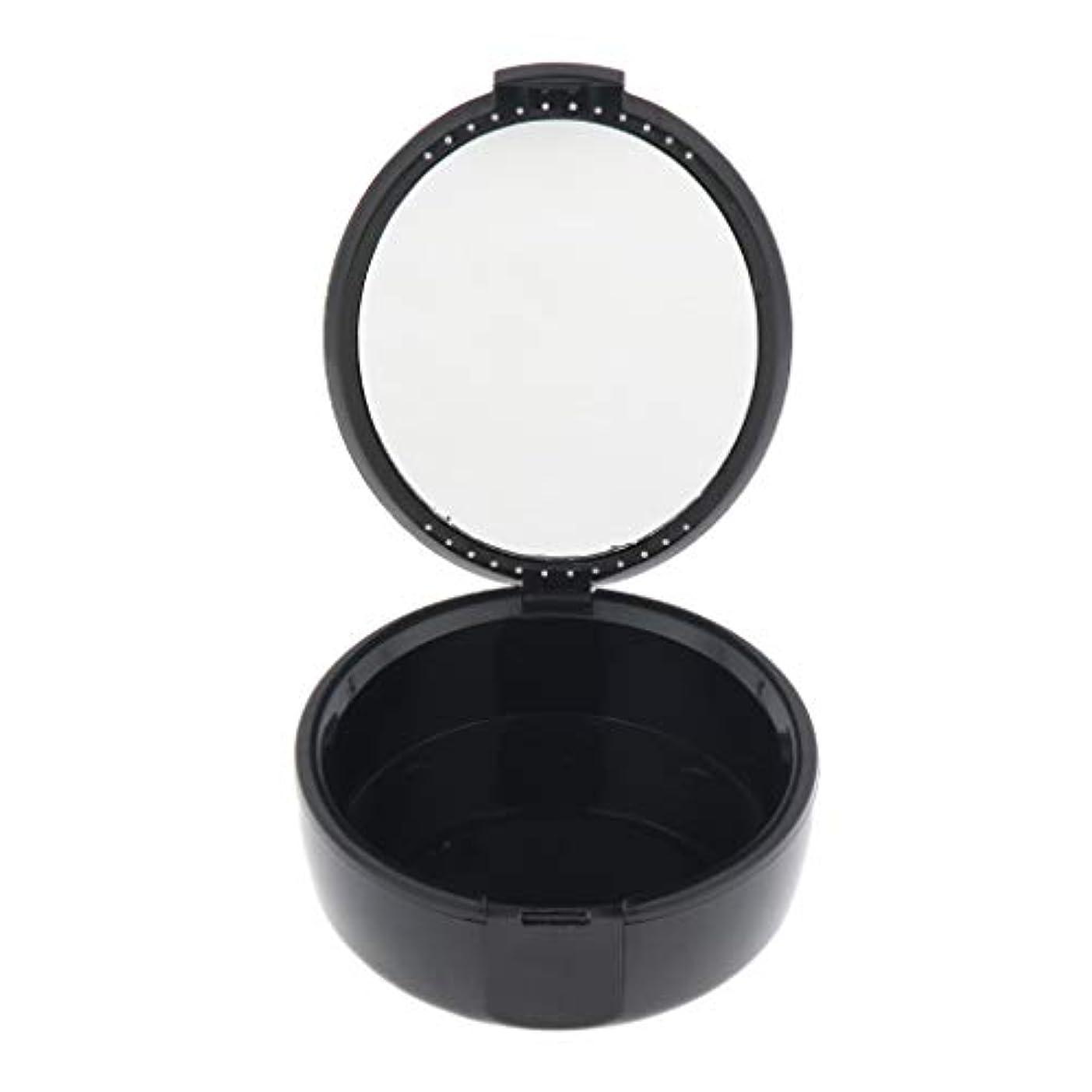 細心のリーフレット好みIPOTCH 義歯ケース マウスガードケース リテーナー ボックス 2色選べ - ブラック