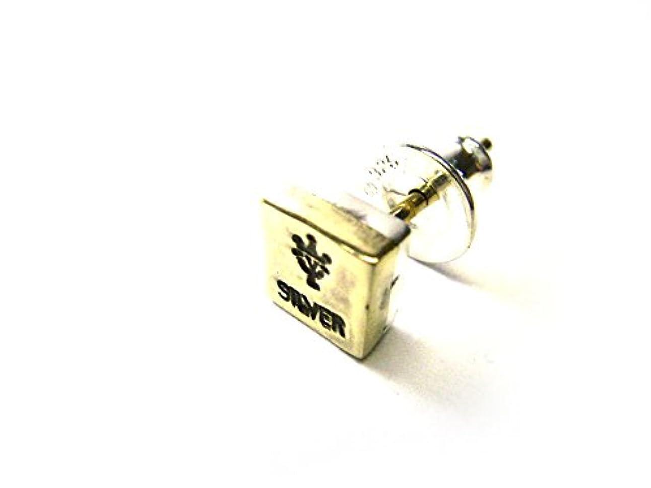 スツールシーサイド芝生VIVIFY ビビファイ ピアス シルバー 2tone Stamp Pierce(square,brass) (ONE SIZE)