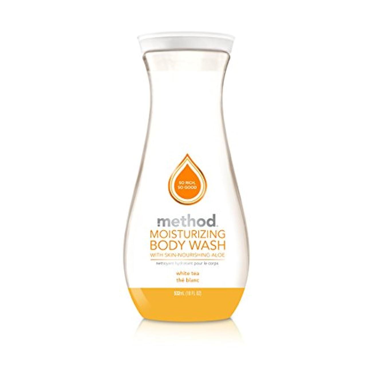 信念整然とした法令Method Pure Naked Moisturizing Body Wash, White Tea, 18 Ounce (Packaging may vary) by Method