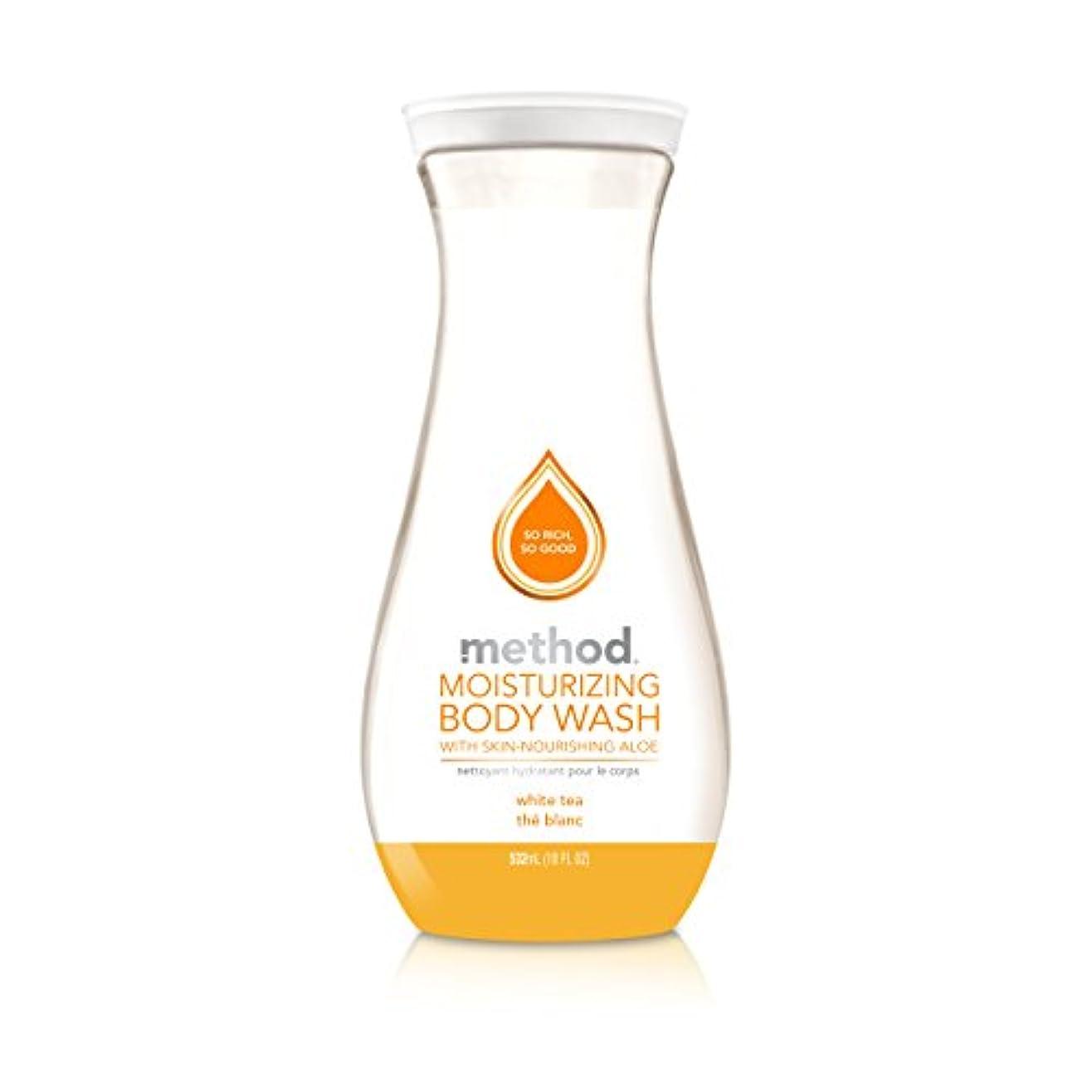 浅いキャンディー作成するMethod Pure Naked Moisturizing Body Wash, White Tea, 18 Ounce (Packaging may vary) by Method